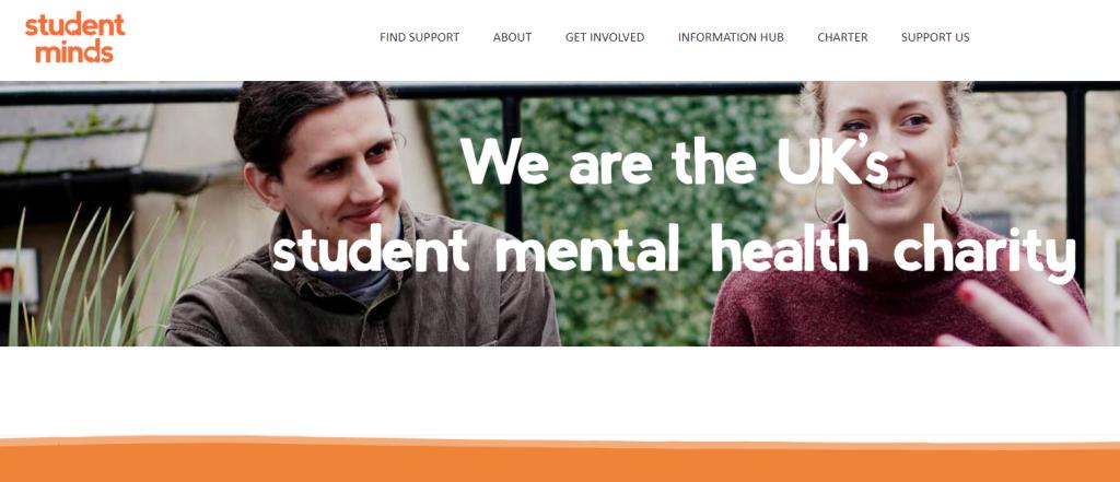 Image of Student Minds website