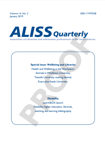 Image of ALISS Quarterly front cover
